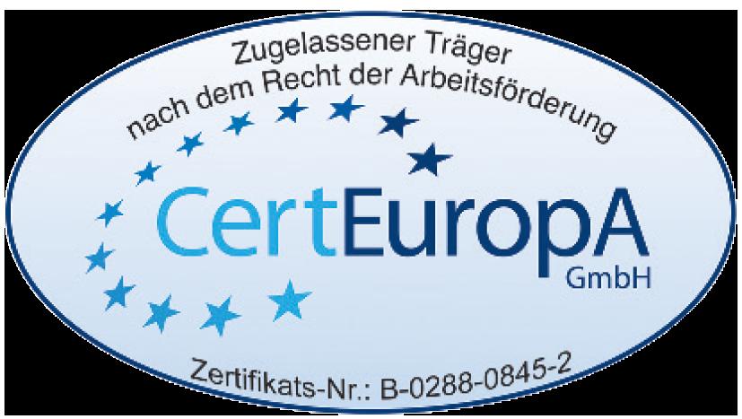 CertEuropa - Zugelassener Träger nach dem Recht der Arbeitsförderung