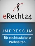 Siegel eRecht24 Impressum mir rechtssichere Websiten